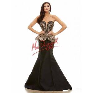 Mac Duggal Leopard Print Rhinestone Prom Dress